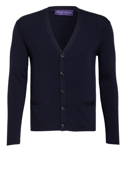 RALPH LAUREN PURPLE LABEL Strickjacke, Farbe: DUNKELBLAU (Bild 1)