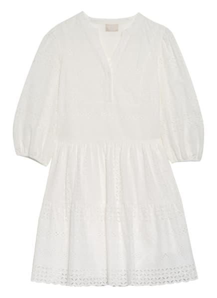 Mrs & HUGS Kleid mit 3/4-Arm und Lochspitze, Farbe: WEISS (Bild 1)