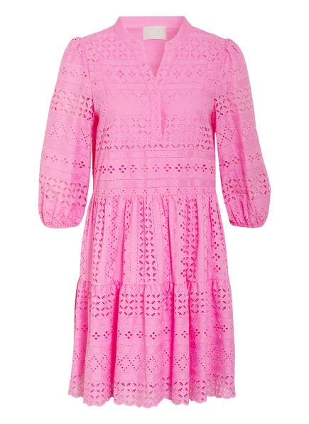 Mrs & HUGS Kleid mit 3/4-Arm und Lochspitze, Farbe: PINK (Bild 1)