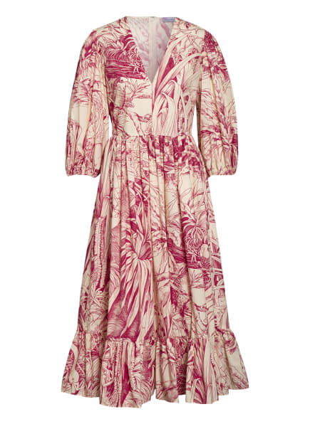 RED VALENTINO Kleid mit 3/4-Arm, Farbe: CREME/ FUCHSIA (Bild 1)