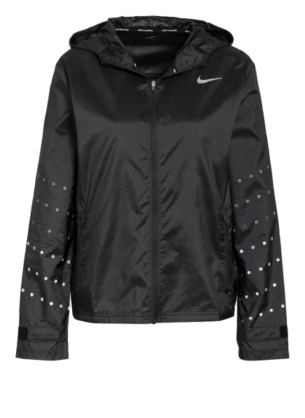 Nike Laufjacke ESSENTIAL FLASH RUNWAY, Farbe: SCHWARZ/ GRAU (Bild 1)