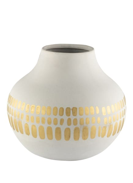 HD COLLECTION Vase, Farbe: WEISS/ GOLD (Bild 1)