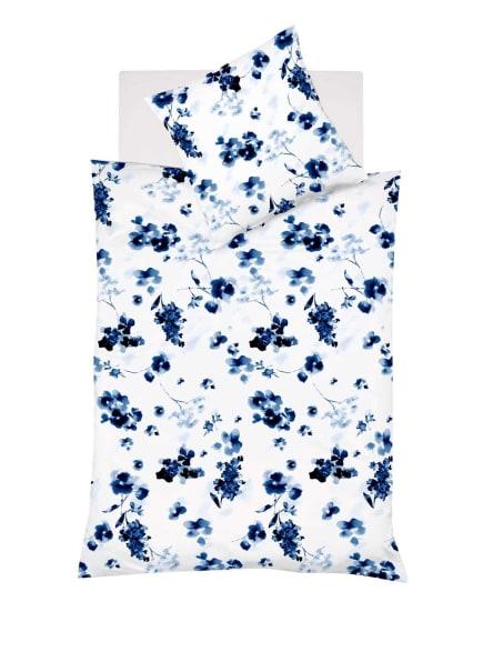 fleuresse Bettwäsche PROVENCE CASSIS mit Leinen , Farbe: CREME/ BLAU/ HELLBLAU (Bild 1)