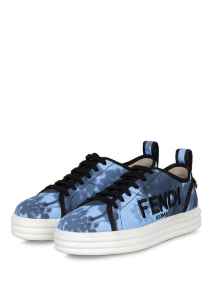 FENDI Plateau-Sneaker RISE, Farbe: HELLBLAU (Bild 1)