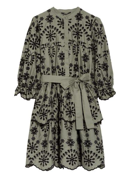 BRUUNS BAZAAR Kleid ROSIE SINEA mit Lochspitze, Farbe: HELLGRÜN/ SCHWARZ (Bild 1)