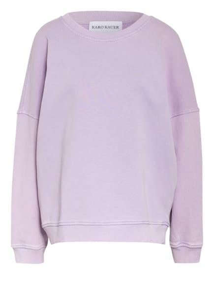 KARO KAUER Sweatshirt NORA, Farbe: HELLLILA/ WEISS (Bild 1)