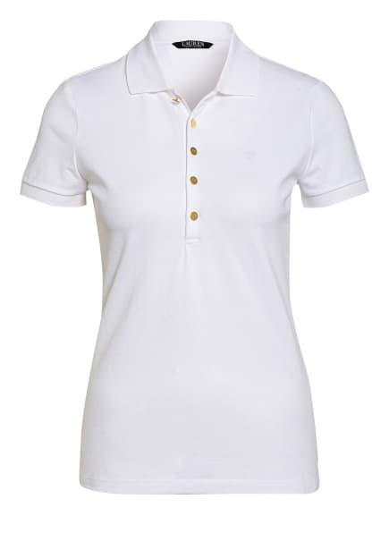 LAUREN RALPH LAUREN Piqué-Poloshirt ATHLEISURE, Farbe: WEISS (Bild 1)