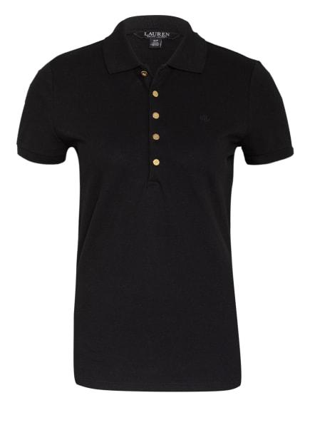 LAUREN RALPH LAUREN Piqué-Poloshirt ATHLEISURE, Farbe: SCHWARZ (Bild 1)