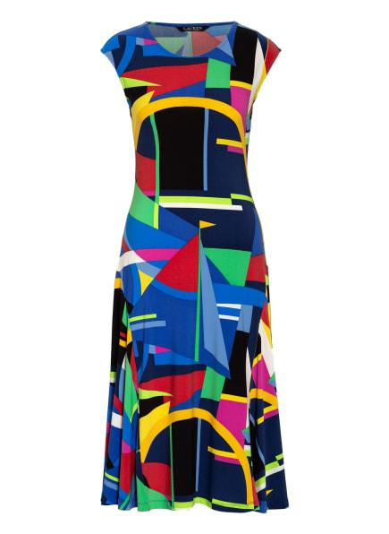 LAUREN RALPH LAUREN Kleid, Farbe: DUNKELBLAU/ ROT/ DUNKELGELB (Bild 1)