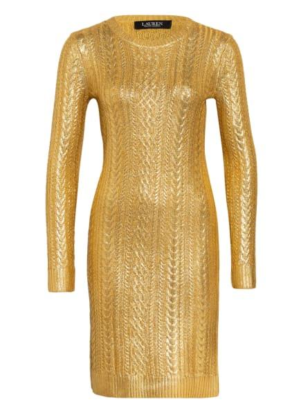 LAUREN RALPH LAUREN Strickkleid KOZINA, Farbe: GOLD (Bild 1)