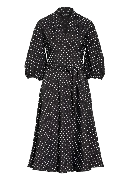 LAUREN RALPH LAUREN Kleid BIJOURNA mit 3/4-Arm, Farbe: SCHWARZ/ WEISS (Bild 1)