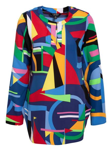 LAUREN RALPH LAUREN Blusenshirt mit 3/4-Arm, Farbe: BLAU/ GELB/ ROT (Bild 1)