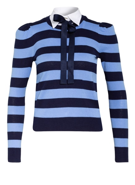 LAUREN RALPH LAUREN Pullover im Materialmix, Farbe: HELLBLAU/ DUNKELBLAU/ WEISS (Bild 1)