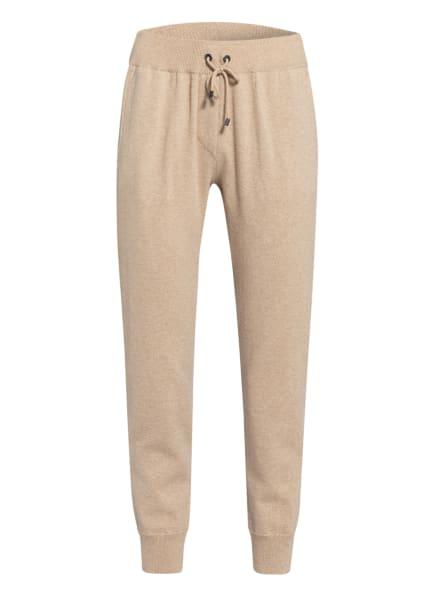 BRUNELLO CUCINELLI Cashmere-Strickhose im Jogging-Stil, Farbe: BEIGE (Bild 1)