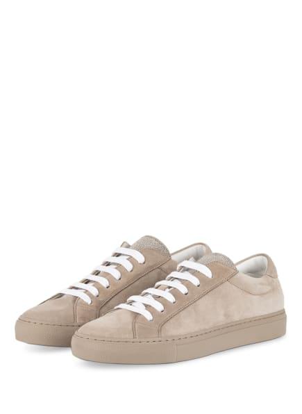 BRUNELLO CUCINELLI Sneaker mit Perlenbesatz, Farbe: TAUPE (Bild 1)