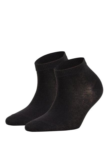 FALKE 2er-Pack Socken HAPPY, Farbe: 3000 BLACK (Bild 1)