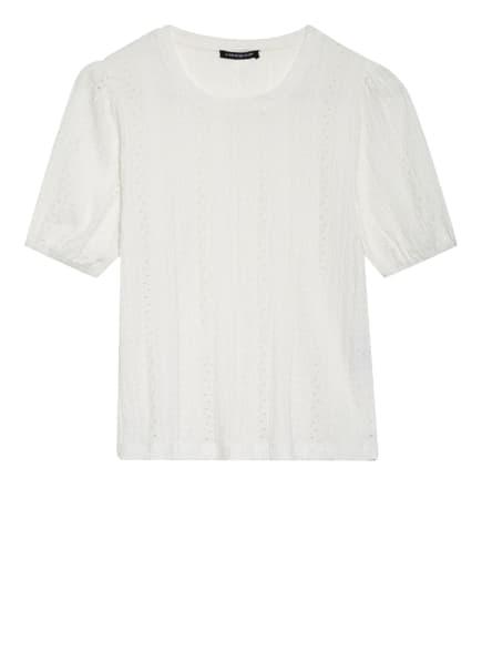 ONE MORE STORY T-Shirt mit Lochspitze, Farbe: WEISS (Bild 1)