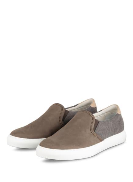 BRUNELLO CUCINELLI Slip-on-Sneaker, Farbe: KHAKI/ GRAU (Bild 1)