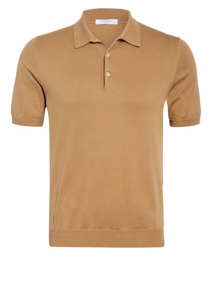 BOGLIOLI Strick-Poloshirt, Farbe: CAMEL (Bild 1)