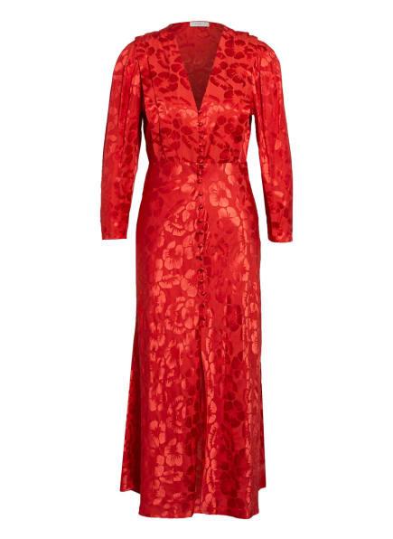 sandro Kleid mit Seide und 3/4-Arm, Farbe: ROT (Bild 1)