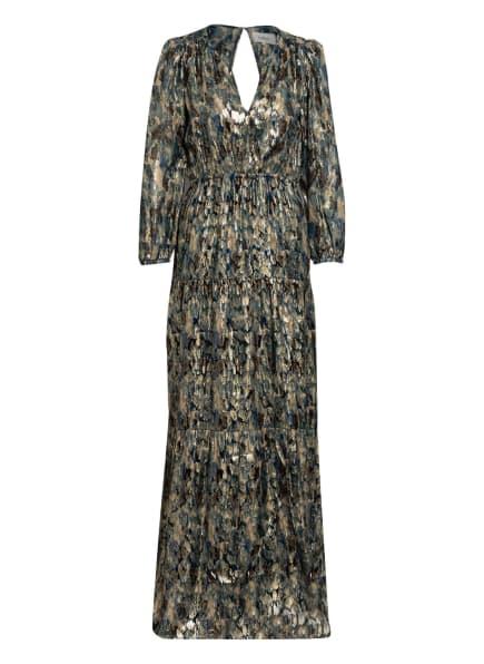 ba&sh Kleid GUILLAN mit 3/4-Arm , Farbe: SCHWARZ/ GOLD/ PETROL (Bild 1)