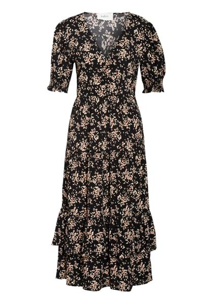 ba&sh Kleid VIKA , Farbe: SCHWARZ/ ECRU/ DUNKELORANGE (Bild 1)