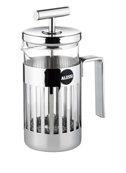 ALESSI Kaffee- und Teezubereiter mit Pressfilter, Farbe: SILBER (Bild 1)