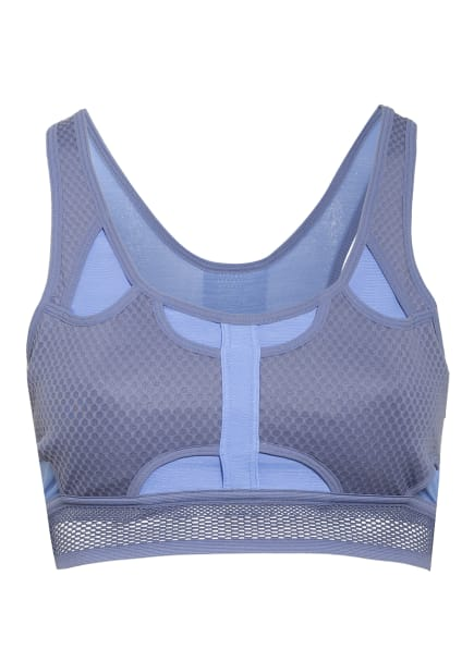 Nike Sport-BH SWOOSH ULTRABREATHE mit Mesh-Besatz, Farbe: HELLBLAU/ GRAU (Bild 1)