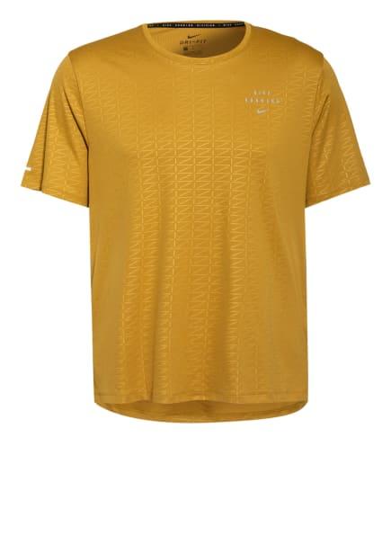 Nike Laufshirt MILER RUN DIVISION, Farbe: DUNKELGELB (Bild 1)