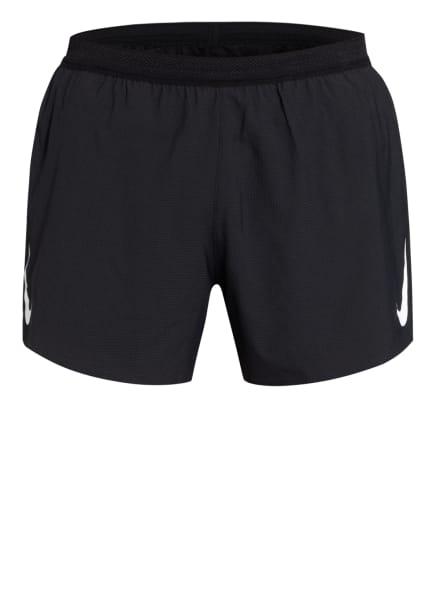 Nike Laufshorts AEROSWIFT, Farbe: SCHWARZ/ WEISS (Bild 1)