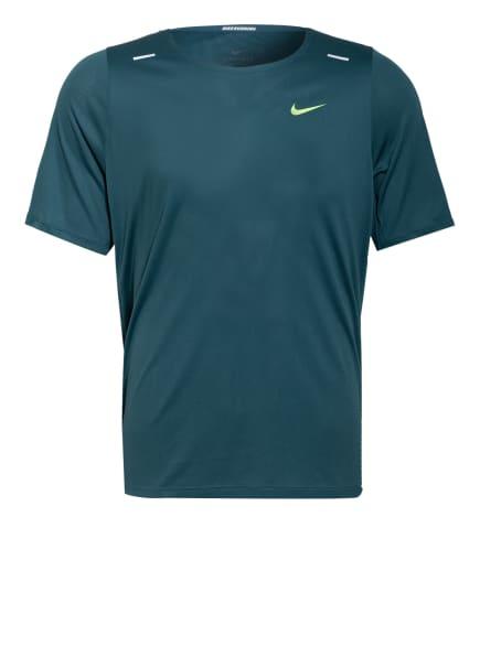 Nike Laufshirt RISE 365 WILD RUN mit Mesh, Farbe: PETROL/ SCHWARZ (Bild 1)