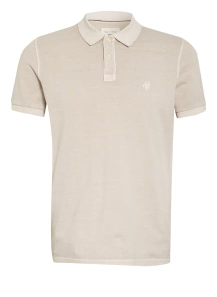 Marc O'Polo Piqué-Poloshirt Regular Fit, Farbe: HELLBRAUN (Bild 1)