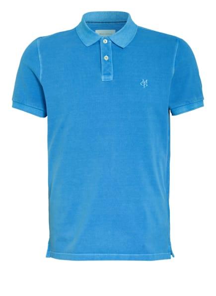 Marc O'Polo Piqué-Poloshirt Regular Fit, Farbe: BLAU (Bild 1)