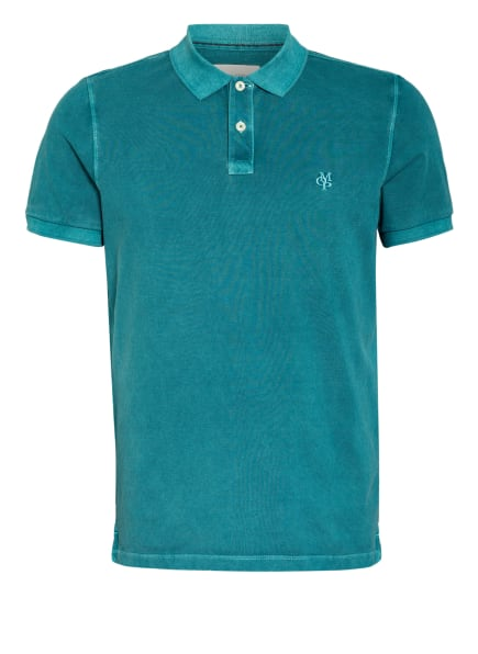 Marc O'Polo Piqué-Poloshirt Regular Fit, Farbe: PETROL (Bild 1)