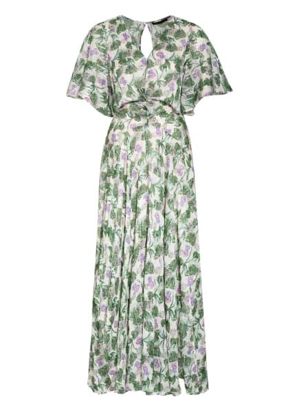 maje Kleid ROCHELLE mit Glitzergarn, Farbe: ECRU/ GRÜN/ LILA (Bild 1)