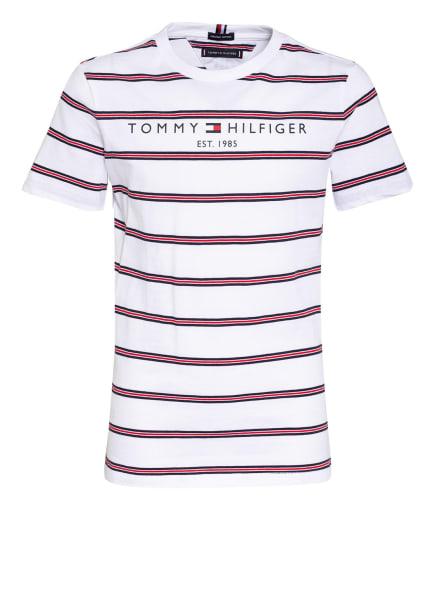TOMMY HILFIGER T-Shirt ESSENTIAL, Farbe: WEISS/ DUNKELBLAU/ ROT (Bild 1)