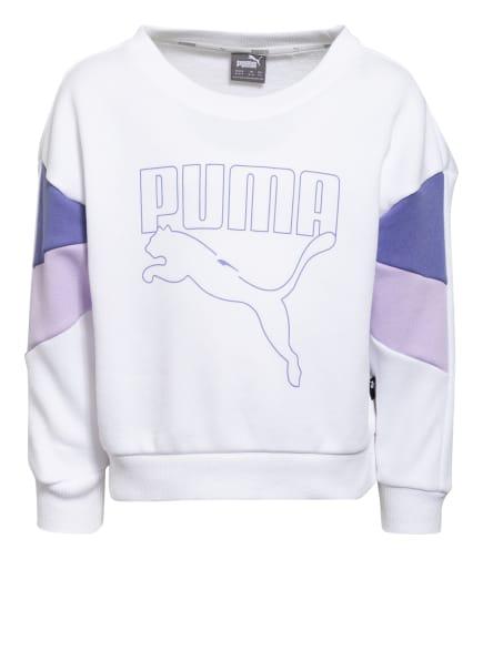 PUMA Sweatshirt REBEL, Farbe: WEISS/ HELLLILA/ LILA (Bild 1)