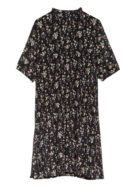 VILA Plisseekleid, Farbe: SCHWARZ/ WEISS/ HELLBLAU (Bild 1)