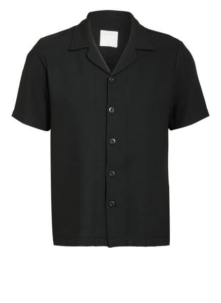 sandro Strick-Resorthemd Slim Fit , Farbe: SCHWARZ (Bild 1)