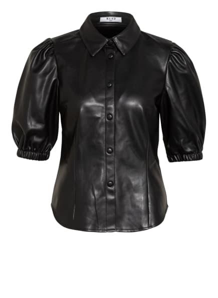 NA-KD Bluse in Lederoptik, Farbe: SCHWARZ (Bild 1)