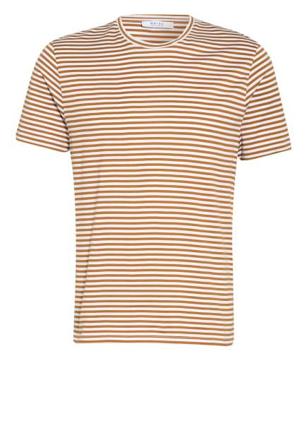 REISS T-Shirt BRODIE, Farbe: WEISS/ CAMEL (Bild 1)