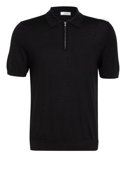 REISS Strick-Poloshirt MAXWELL, Farbe: SCHWARZ (Bild 1)