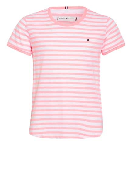 TOMMY HILFIGER T-Shirt, Farbe: NEONPINK/ WEISS (Bild 1)