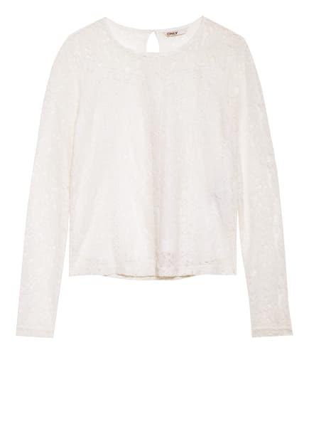 ONLY Blusenshirt aus Spitze, Farbe: ECRU (Bild 1)