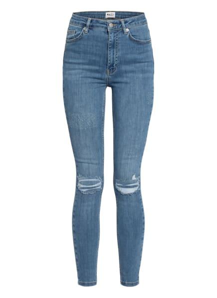 NA-KD Skinny Jeans, Farbe: MID BLUE (Bild 1)