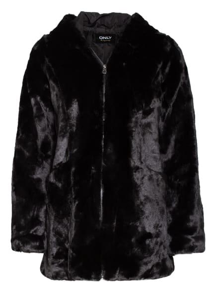 ONLY Jacke in Felloptik, Farbe: SCHWARZ (Bild 1)
