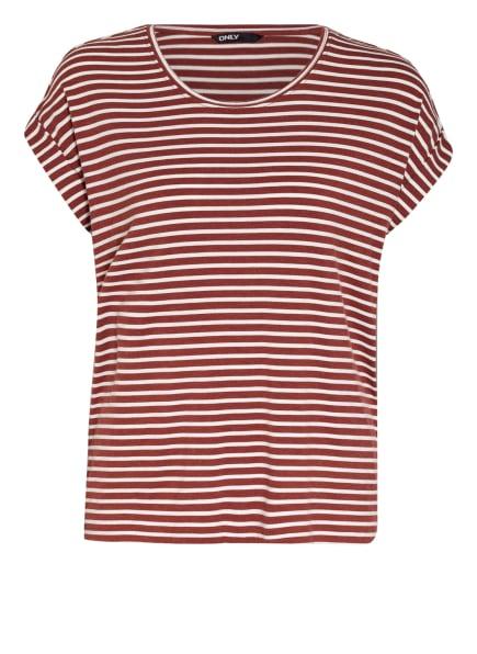 ONLY T-Shirt, Farbe: WEISS/ BRAUN (Bild 1)