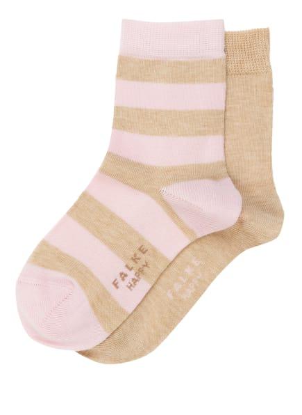 FALKE 2er-Pack Socken HAPPY, Farbe: 4650 SAND MEL. (Bild 1)