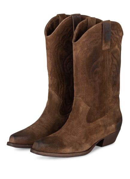 ba&sh Cowboy Boots SCRUZ, Farbe: BRAUN (Bild 1)