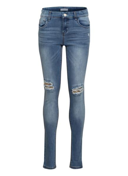 name it Destroyed Jeans mit Paillettenbesatz, Farbe: BLAU (Bild 1)